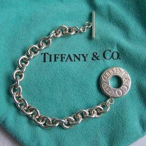 """COPY - Tiffany & Co. Silver """"1837"""" Toggle Bracelet"""
